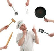 stock-photo-12012039-chef-thinking-at-kitchen-tools-that-he-needs